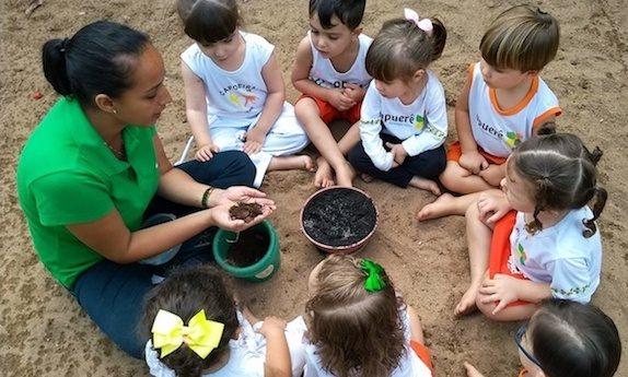Contato com a natureza - aprendizagem mais fácil